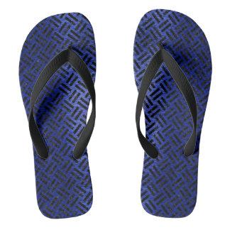 WOVEN2 BLACK MARBLE & BLUE BRUSHED METAL (R) FLIP FLOPS