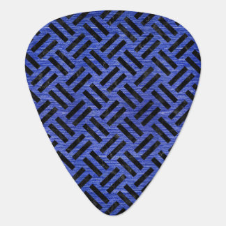 WOVEN2 BLACK MARBLE & BLUE BRUSHED METAL (R) GUITAR PICK