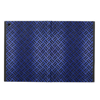 WOVEN2 BLACK MARBLE & BLUE BRUSHED METAL (R) iPad AIR CASE