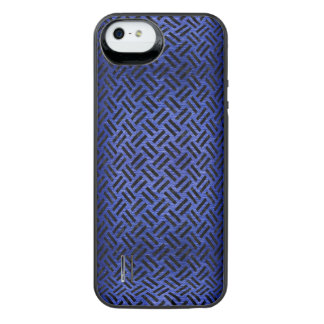 WOVEN2 BLACK MARBLE & BLUE BRUSHED METAL (R) iPhone SE/5/5s BATTERY CASE