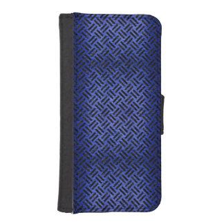 WOVEN2 BLACK MARBLE & BLUE BRUSHED METAL (R) iPhone SE/5/5s WALLET CASE