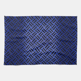 WOVEN2 BLACK MARBLE & BLUE BRUSHED METAL (R) KITCHEN TOWEL
