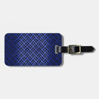 WOVEN2 BLACK MARBLE & BLUE BRUSHED METAL (R) LUGGAGE TAG
