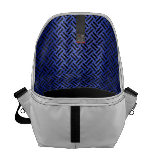 WOVEN2 BLACK MARBLE & BLUE BRUSHED METAL (R) MESSENGER BAG