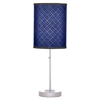 WOVEN2 BLACK MARBLE & BLUE BRUSHED METAL (R) TABLE LAMP