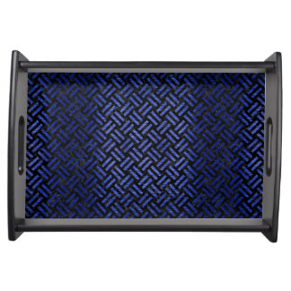 WOVEN2 BLACK MARBLE & BLUE BRUSHED METAL SERVING TRAY