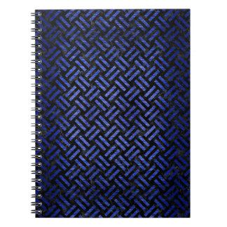 WOVEN2 BLACK MARBLE & BLUE BRUSHED METAL SPIRAL NOTEBOOK