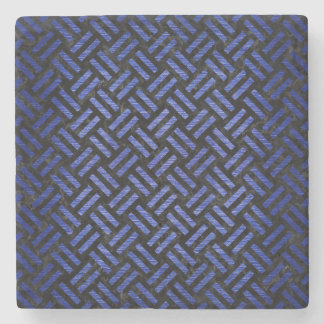 WOVEN2 BLACK MARBLE & BLUE BRUSHED METAL STONE COASTER