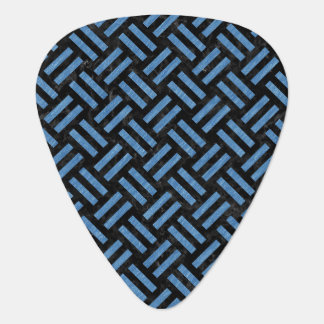 WOVEN2 BLACK MARBLE & BLUE COLORED PENCIL GUITAR PICK