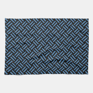 WOVEN2 BLACK MARBLE & BLUE COLORED PENCIL KITCHEN TOWEL