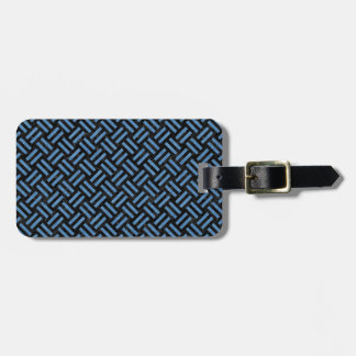 WOVEN2 BLACK MARBLE & BLUE COLORED PENCIL LUGGAGE TAG