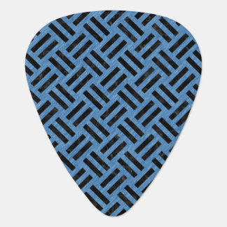 WOVEN2 BLACK MARBLE & BLUE COLORED PENCIL (R) GUITAR PICK