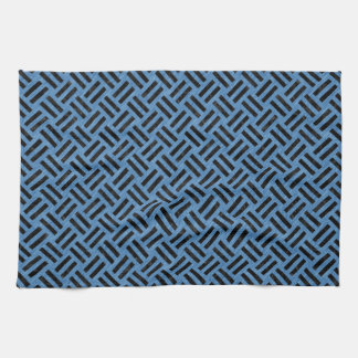 WOVEN2 BLACK MARBLE & BLUE COLORED PENCIL (R) KITCHEN TOWEL