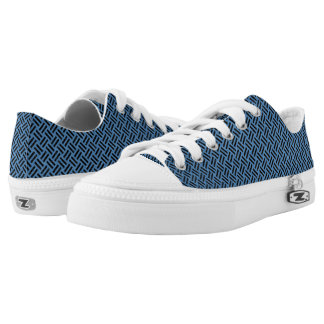 WOVEN2 BLACK MARBLE & BLUE COLORED PENCIL (R) Low-Top SNEAKERS