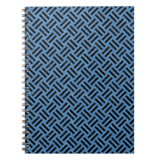 WOVEN2 BLACK MARBLE & BLUE COLORED PENCIL (R) NOTEBOOK