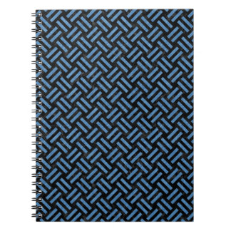 WOVEN2 BLACK MARBLE & BLUE COLORED PENCIL SPIRAL NOTEBOOK