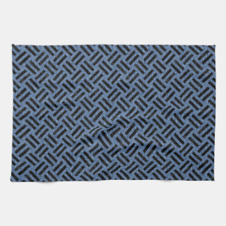 WOVEN2 BLACK MARBLE & BLUE DENIM (R) KITCHEN TOWEL