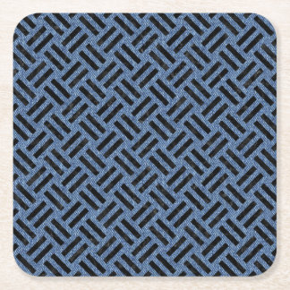 WOVEN2 BLACK MARBLE & BLUE DENIM (R) SQUARE PAPER COASTER