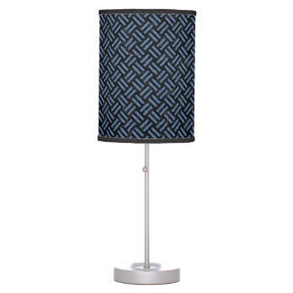 WOVEN2 BLACK MARBLE & BLUE DENIM TABLE LAMP