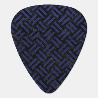 WOVEN2 BLACK MARBLE & BLUE LEATHER GUITAR PICK