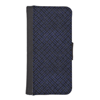 WOVEN2 BLACK MARBLE & BLUE LEATHER iPhone SE/5/5s WALLET CASE