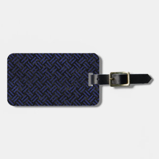 WOVEN2 BLACK MARBLE & BLUE LEATHER LUGGAGE TAG