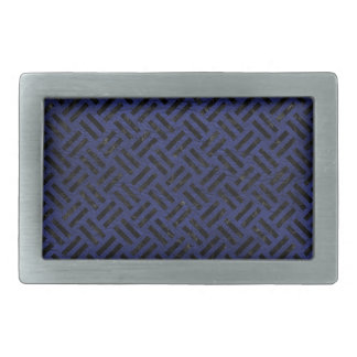 WOVEN2 BLACK MARBLE & BLUE LEATHER (R) BELT BUCKLE