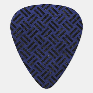 WOVEN2 BLACK MARBLE & BLUE LEATHER (R) GUITAR PICK