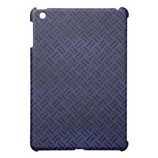 WOVEN2 BLACK MARBLE & BLUE LEATHER (R) iPad MINI CASE