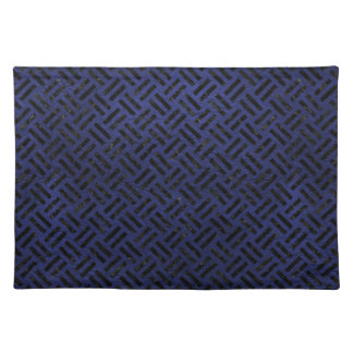 WOVEN2 BLACK MARBLE & BLUE LEATHER (R) PLACEMAT