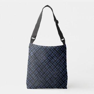 WOVEN2 BLACK MARBLE & BLUE STONE CROSSBODY BAG