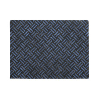 WOVEN2 BLACK MARBLE & BLUE STONE DOORMAT