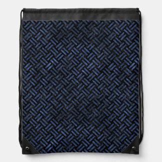 WOVEN2 BLACK MARBLE & BLUE STONE DRAWSTRING BAG