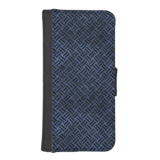 WOVEN2 BLACK MARBLE & BLUE STONE (R) iPhone SE/5/5s WALLET CASE