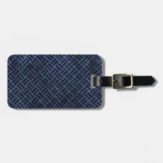 WOVEN2 BLACK MARBLE & BLUE STONE (R) LUGGAGE TAG