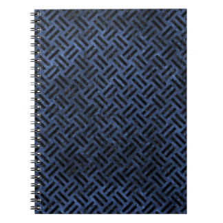 WOVEN2 BLACK MARBLE & BLUE STONE (R) NOTEBOOK