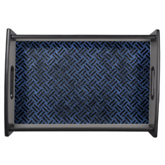 WOVEN2 BLACK MARBLE & BLUE STONE (R) SERVING TRAY
