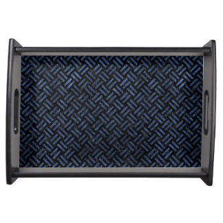 WOVEN2 BLACK MARBLE & BLUE STONE SERVING TRAY