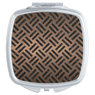 WOVEN2 BLACK MARBLE & BRONZE METAL (R) COMPACT MIRRORS