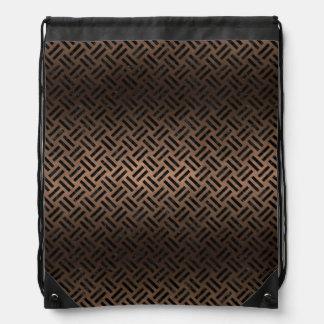 WOVEN2 BLACK MARBLE & BRONZE METAL (R) DRAWSTRING BAG