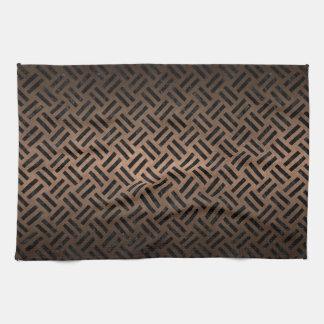 WOVEN2 BLACK MARBLE & BRONZE METAL (R) HAND TOWEL