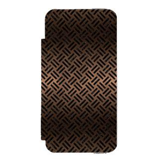 WOVEN2 BLACK MARBLE & BRONZE METAL (R) INCIPIO WATSON™ iPhone 5 WALLET CASE