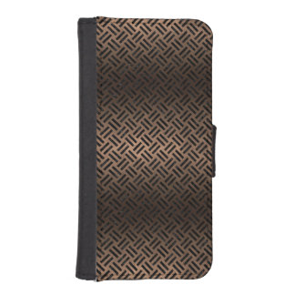 WOVEN2 BLACK MARBLE & BRONZE METAL (R) iPhone SE/5/5s WALLET CASE
