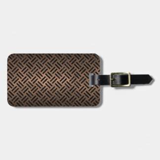 WOVEN2 BLACK MARBLE & BRONZE METAL (R) LUGGAGE TAG