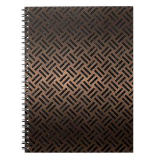 WOVEN2 BLACK MARBLE & BRONZE METAL (R) SPIRAL NOTEBOOK