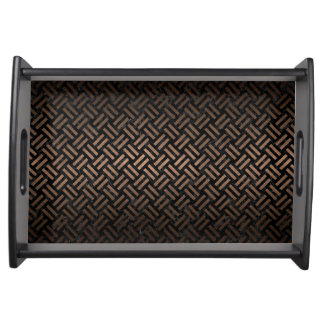 WOVEN2 BLACK MARBLE & BRONZE METAL SERVING TRAY