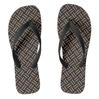 WOVEN2 BLACK MARBLE & BROWN COLORED PENCIL FLIP FLOPS
