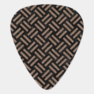 WOVEN2 BLACK MARBLE & BROWN COLORED PENCIL GUITAR PICK