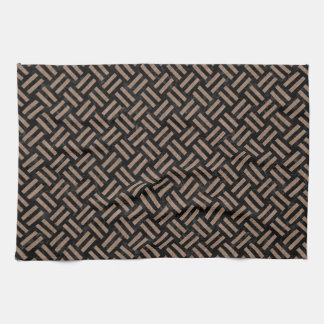 WOVEN2 BLACK MARBLE & BROWN COLORED PENCIL HAND TOWELS
