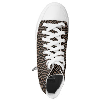 WOVEN2 BLACK MARBLE & BROWN COLORED PENCIL HIGH TOPS
